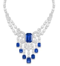 780e6c76e عقد من الماس والزفير، يبلغ وزن الزفير 67 قيراط، والماس 49 قيراط