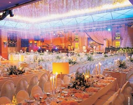 ديكور قاعات الأعراس