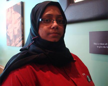 النادلة السعودية سيما عبدالله